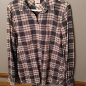 J Crew boyfit plaid shirt Medium